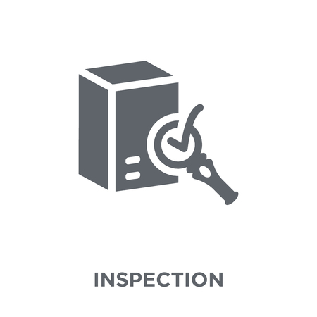 Inspection icon. Inspection design concept from Delivery and logistic collection. Simple element vector illustration on white background. Stock Illustratie