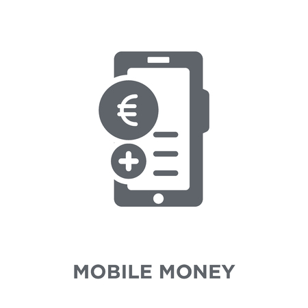 Mobile money icon. Mobile money design concept from collection. Simple element vector illustration on white background.