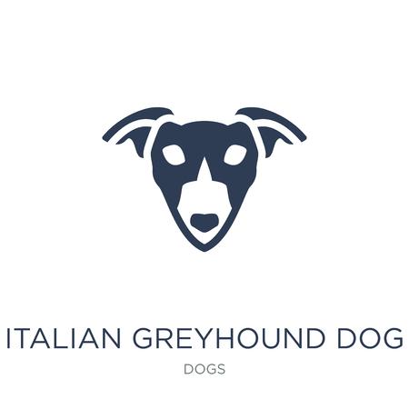 Italiaanse windhond hond icoon. Trendy platte vector Italiaanse windhond hond pictogram op witte achtergrond uit honden collectie, vectorillustratie kan worden gebruikt voor web en mobiel, eps10