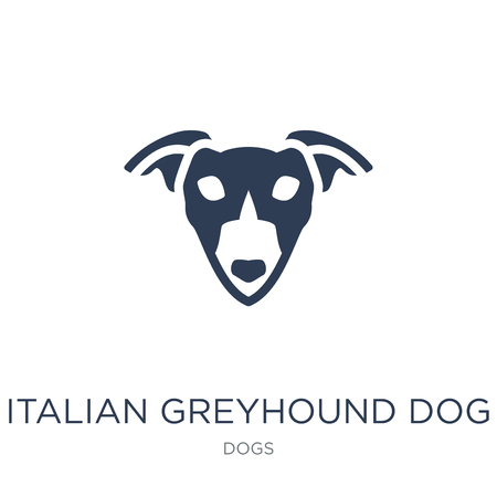 Italian Greyhound dog icon. Trendy flat vector Italian Greyhound dog icon on white background from dogs collection, vector illustration can be use for web and mobile, eps10