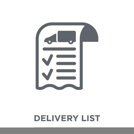 Delivery List icon. Delivery List design concept from Delivery and logistic collection. Simple element vector illustration on white background. Standard-Bild - 112099376