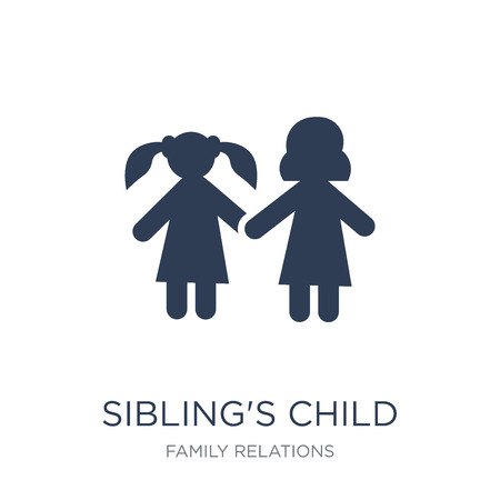 siblings child icon. Trendy flat vector siblings child icon on white background from family relations collection, vector illustration can be use for web and mobile, eps10