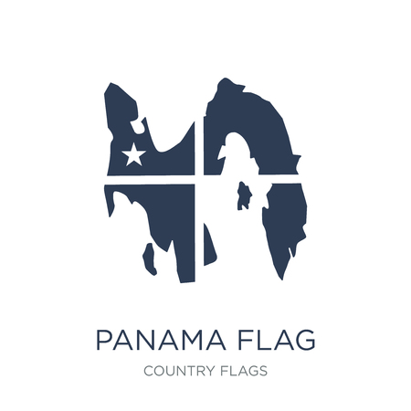 Panama flag icon. Trendy flat vector Panama flag icon on white background from Country Flags collection, vector illustration can be use for web and mobile, eps10