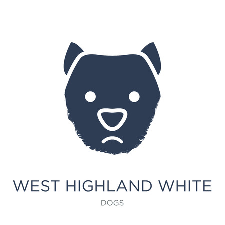 West Highland White Terrier dog icon. Trendy flat vector West Highland White Terrier dog icon on white background from dogs collection, vector illustration can be use for web and mobile, eps10