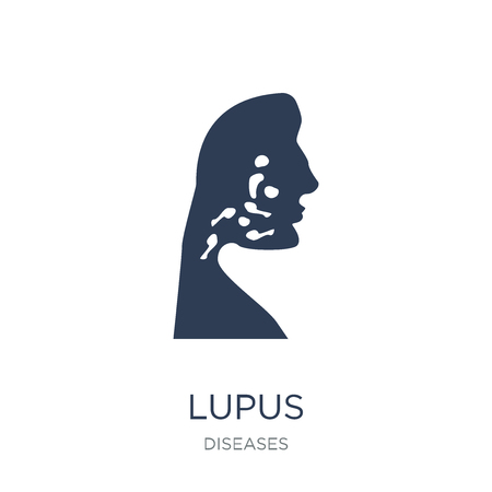 Lupus icon. Trendy flat vector Lupus icon on white background from Diseases collection, vector illustration can be use for web and mobile, eps10