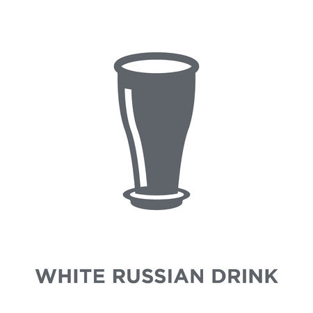 White Russian drink icon. White Russian drink design concept from Drinks collection. Simple element vector illustration on white background.