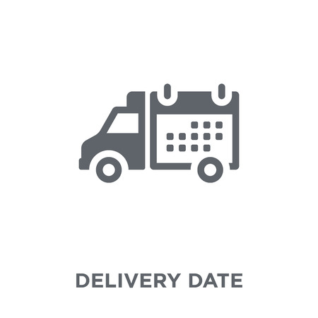 Delivery Date icon. Delivery Date design concept from Delivery and logistic collection. Simple element vector illustration on white background. Standard-Bild - 112099393