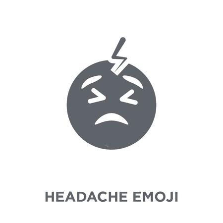 Headache emoji icon. Headache emoji design concept from Emoji collection. Simple element vector illustration on white background.