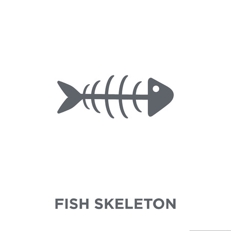 Fish skeleton icon. Fish skeleton design concept from Drinks collection. Simple element vector illustration on white background.