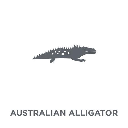 Australian Alligator icon. Australian Alligator design concept from Australia collection. Simple element vector illustration on white background.