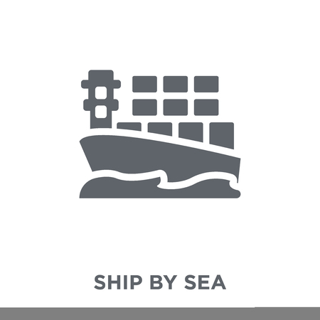 ship by sea icon. ship by sea design concept from Delivery and logistic collection. Simple element vector illustration on white background. Illustration