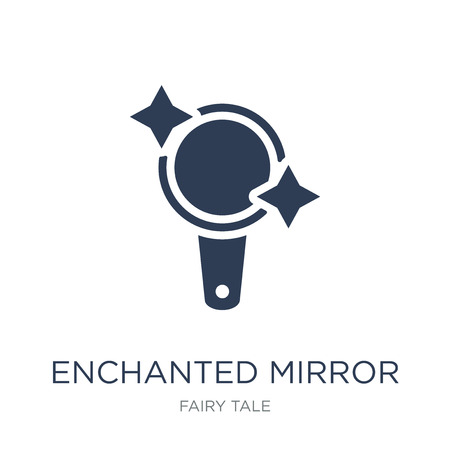 Enchanted mirror icon. Trendy flat vector Enchanted mirror icon on white background from Fairy Tale collection, vector illustration can be use for web and mobile, eps10