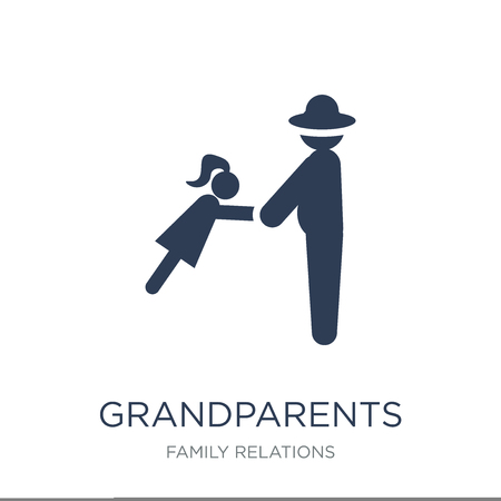grandparents icon. Trendy flat vector grandparents icon on white background from family relations collection, vector illustration can be use for web and mobile, eps10 Banque d'images - 112099728