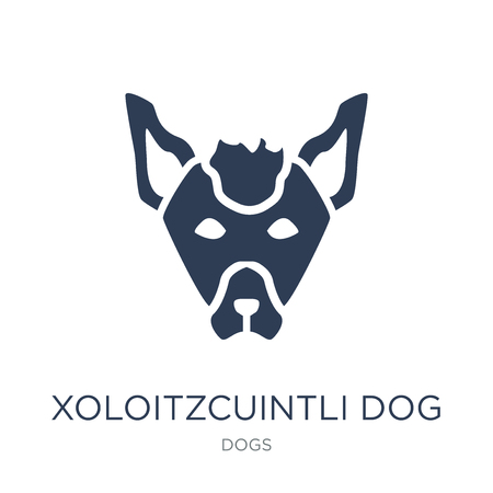Xoloitzcuintli dog icon. Trendy flat vector Xoloitzcuintli dog icon on white background from dogs collection, vector illustration can be use for web and mobile, eps10