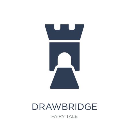 icône de pont-levis. Icône de pont-levis vecteur plat sur fond blanc de la collection Fairy Tale, illustration vectorielle peut être utilisé pour le web et mobile, eps10