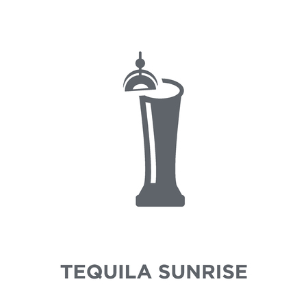 Tequila sunrise icon. Tequila sunrise design concept from Drinks collection. Simple element vector illustration on white background. Illustration