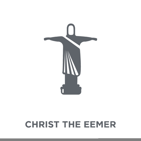 Christ the redeemer brazilian sculpture icon. Christ the redeemer brazilian sculpture design concept from Brazilian icons collection. Simple element vector illustration on white background.