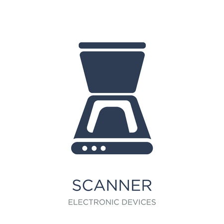 Scanner icon. Trendy flat vector Scanner icon on white background from Electronic devices collection, vector illustration can be use for web and mobile, eps10