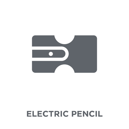 electric pencil sharpener icon. electric pencil sharpener design concept from Electronic devices collection. Simple element vector illustration on white background.