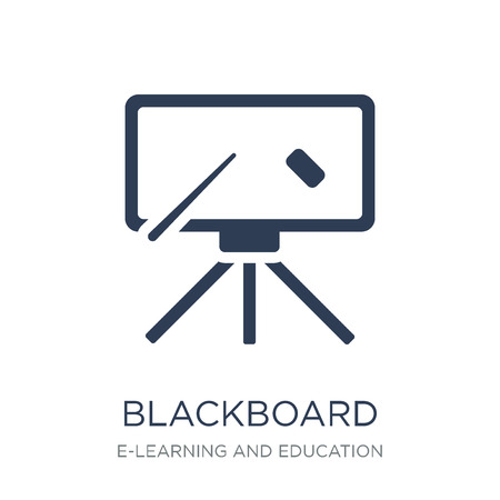 Blackboard icon. Trendy flat vector Blackboard icon on white background from E-learning and education collection, vector illustration can be use for web and mobile, eps10