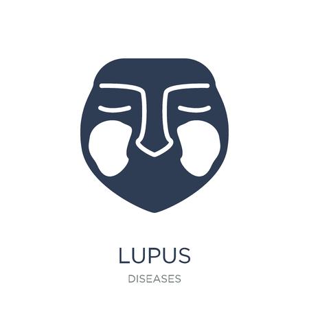 Lupus erythematosus icoon. Trendy platte vector Lupus erythematosus pictogram op witte achtergrond uit ziekten collectie, vectorillustratie kan worden gebruikt voor web en mobiel, eps10