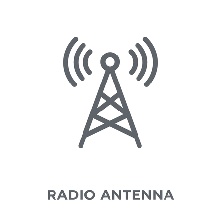 Radio antenna icon. Radio antenna design concept from Communication collection. Simple element vector illustration on white background. 版權商用圖片 - 111956860