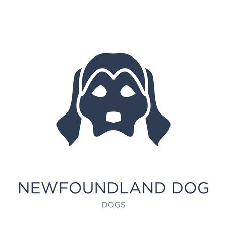 Icône de chien de Terre-Neuve. Icône de chien Terre-Neuve vecteur plat sur fond blanc de la collection de chiens, illustration vectorielle peut être utilisé pour le web et mobile, eps10