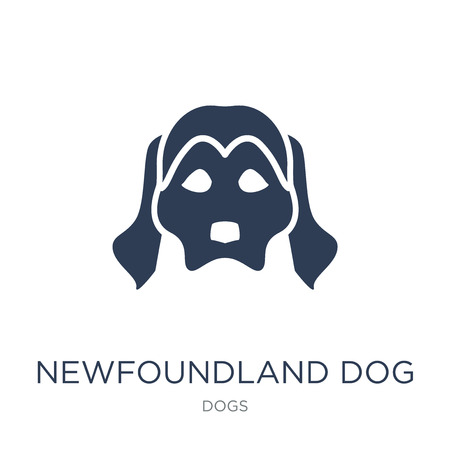 Newfoundland dog icon. Trendy flat vector Newfoundland dog icon on white background from dogs collection, vector illustration can be use for web and mobile, eps10