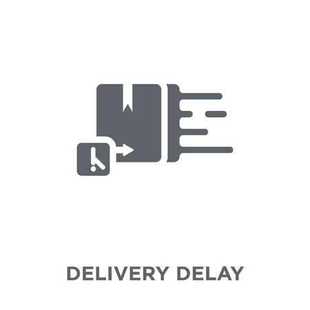 Delivery Delay icon. Delivery Delay design concept from Delivery and logistic collection. Simple element vector illustration on white background.