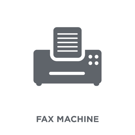 Fax Machine icon. Fax Machine design concept from Electronic devices collection. Simple element vector illustration on white background. 矢量图像