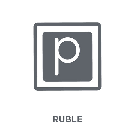 Ruble icon. Ruble design concept from Russia collection. Simple element vector illustration on white background. Çizim