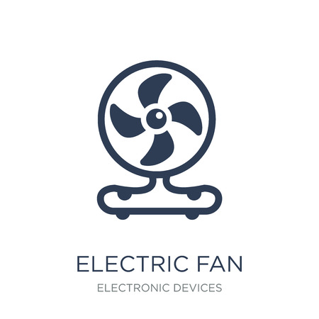 electric fan icon. Trendy flat vector electric fan icon on white background from Electronic devices collection, vector illustration can be use for web and mobile, eps10