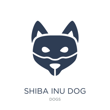 Shiba Inu dog icon. Trendy flat vector Shiba Inu dog icon on white background from dogs collection, vector illustration can be use for web and mobile, eps10