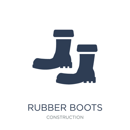 Rubber Boots icon. Trendy flat vector Rubber Boots icon on white background from Construction collection, vector illustration can be use for web and mobile, eps10