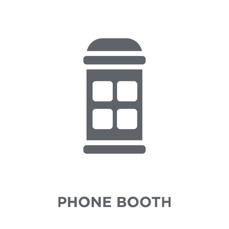 Phone booth icon. Phone booth design concept from Communication collection. Simple element vector illustration on white background.