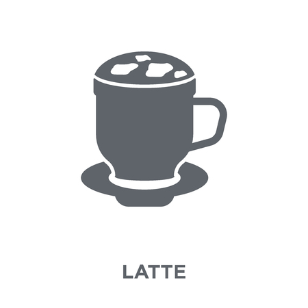 Latte icon. Latte design concept from Drinks collection. Simple element vector illustration on white background.  イラスト・ベクター素材