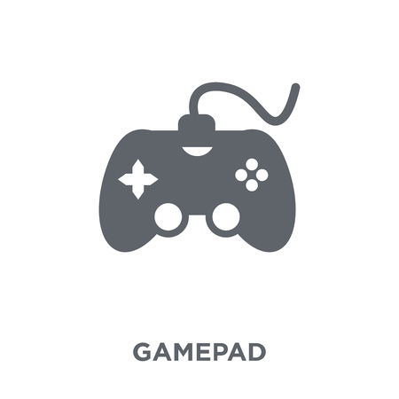 Gamepad icon. Gamepad design concept from Arcade collection. Simple element vector illustration on white background. Illustration