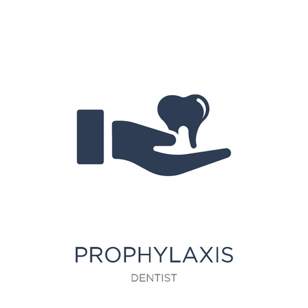 Prophylaxis icon. Trendy flat vector Prophylaxis icon on white background from Dentist collection, vector illustration can be use for web and mobile, eps10