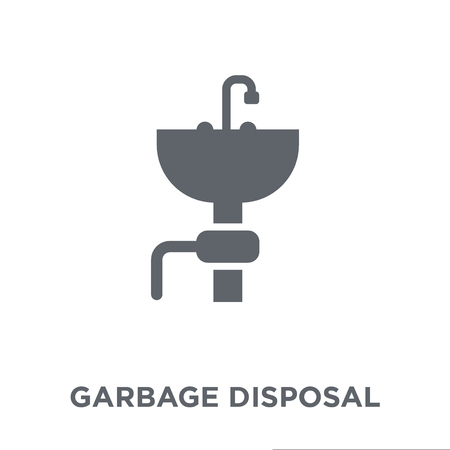 garbage disposal icon. garbage disposal design concept from Electronic devices collection. Simple element vector illustration on white background. Ilustração