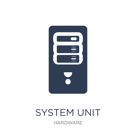 System Unit icon. Trendy flat vector System Unit icon on white background from hardware collection, vector illustration can be use for web and mobile, eps10