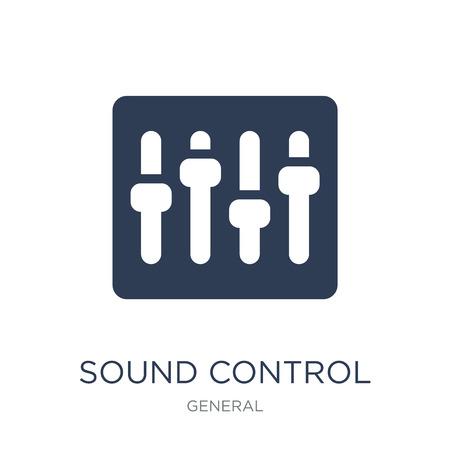 icône de contrôle du son. Icône de contrôle du son vecteur plat sur fond blanc de la collection générale, illustration vectorielle peut être utilisé pour le web et mobile, eps10