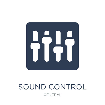 sound control icon. Trendy flat vector sound control icon on white background from General collection, vector illustration can be use for web and mobile, eps10
