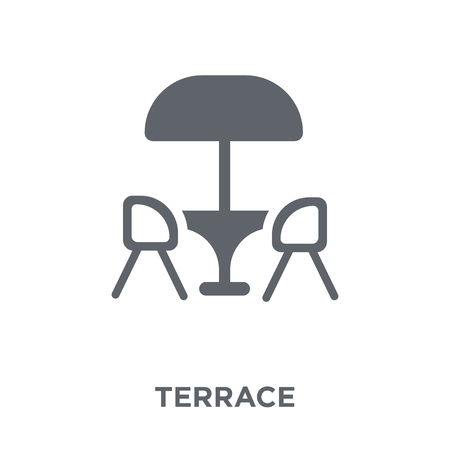 Terrace icon. Terrace design concept from Restaurant collection. Simple element vector illustration on white background. Standard-Bild - 111957229