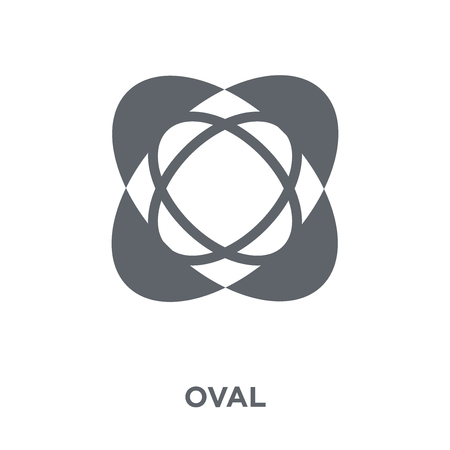 Oval icon. Oval design concept from Geometry collection. Simple element vector illustration on white background. Standard-Bild - 111957093