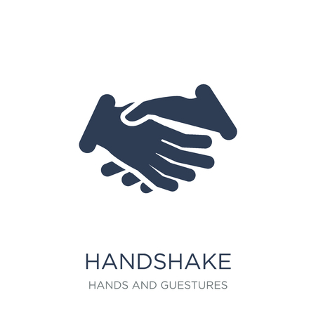 Handshake icon. Trendy flat vector Handshake icon on white background from Hands and guestures collection, vector illustration can be use for web and mobile, eps10 Illustration