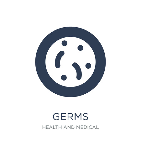 Germs icon. Trendy flat vector Germs icon on white background from Health and Medical collection, vector illustration can be use for web and mobile, eps10