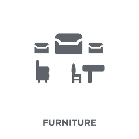 Furniture icon. Furniture design concept from Furniture and household collection. Simple element vector illustration on white background.  イラスト・ベクター素材