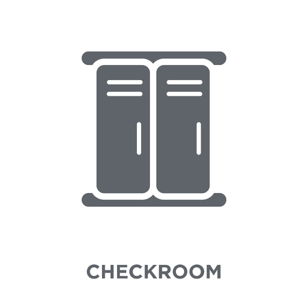 Checkroom icon. Checkroom design concept from Hotel collection. Simple element vector illustration on white background.