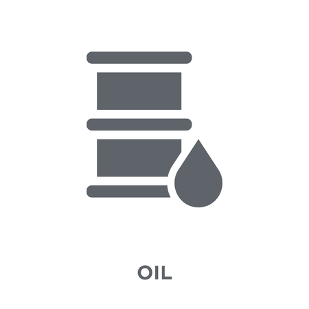 Oil icon. Oil design concept from  collection. Simple element vector illustration on white background. Illusztráció