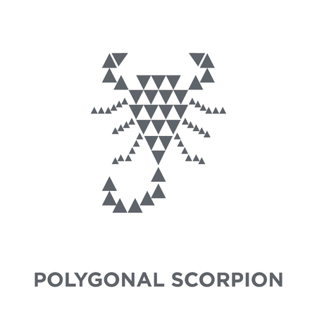 Polygonal scorpion icon. Polygonal scorpion design concept from Geometry collection. Simple element vector illustration on white background. Stock Vector - 112100375